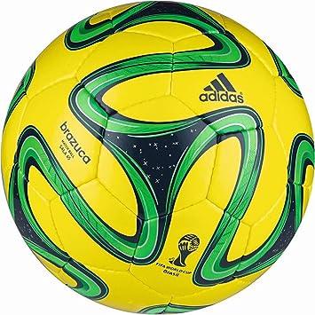 si Vientre taiko Pautas  adidas Brazuca Sala 65 - Balón de fútbol (Talla 5), Color Amarillo, Verde,  y Negro: Amazon.es: Deportes y aire libre