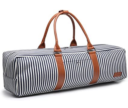 elenture Canvas Yoga mat Tote Bag with Storage Pockets 026229d920ebd