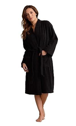 a86e18c3cb Deluxe Spa-Style Women Terry Kimono Bathrobe Thick Turkish Cotton at ...