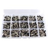 Haljia Kit assortito formato da 15tipi di transistor TO-92NPN/PNP, da 40-160 V, 50-600mA NPN/PNP. Modelli: A1015, C945, C1815, S8050, S8550, S9012, S9013, S9014, S9015S9018, 2N2222, 2N3904, 2N3906, 2N5401, 2N5551 (confezione da 600 pezzi)