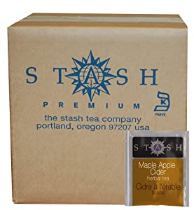 Stash Tea Maple Apple Cider 100 Count Teabags in Foil (packaging may vary) Individual Herbal Tea Bags for Use in Teapots Mugs or Cups, Brew Hot Tea or Iced Tea