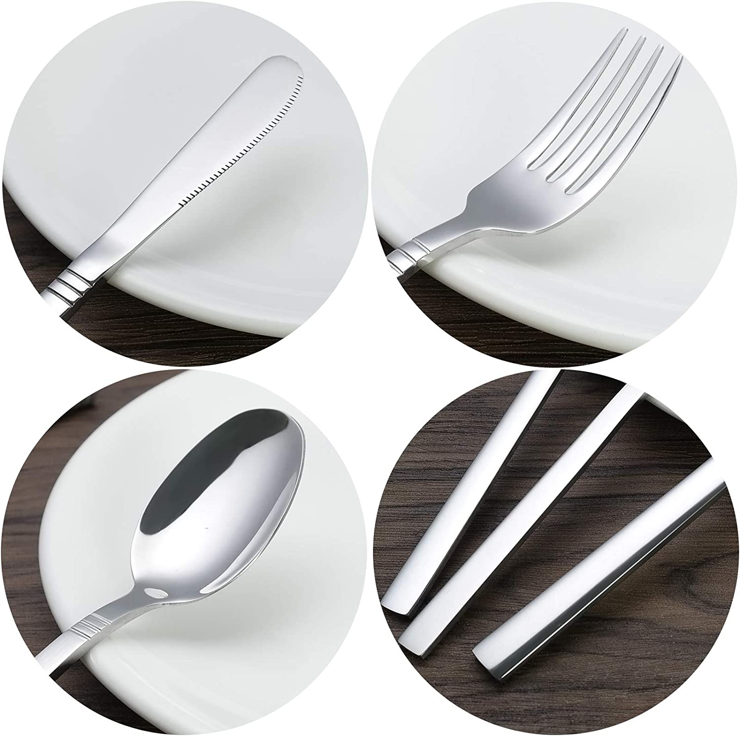 Kiddream 4 Pieces Camping Cutlery Set for 1 Stainless Steel Travel Cutlery Set With Case