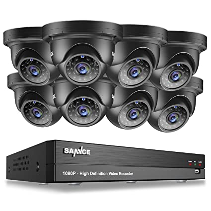 Cableado Annke, para sistemas de vigilancia, grabador DVR 4CH 1080p CCTV, 4 cámaras
