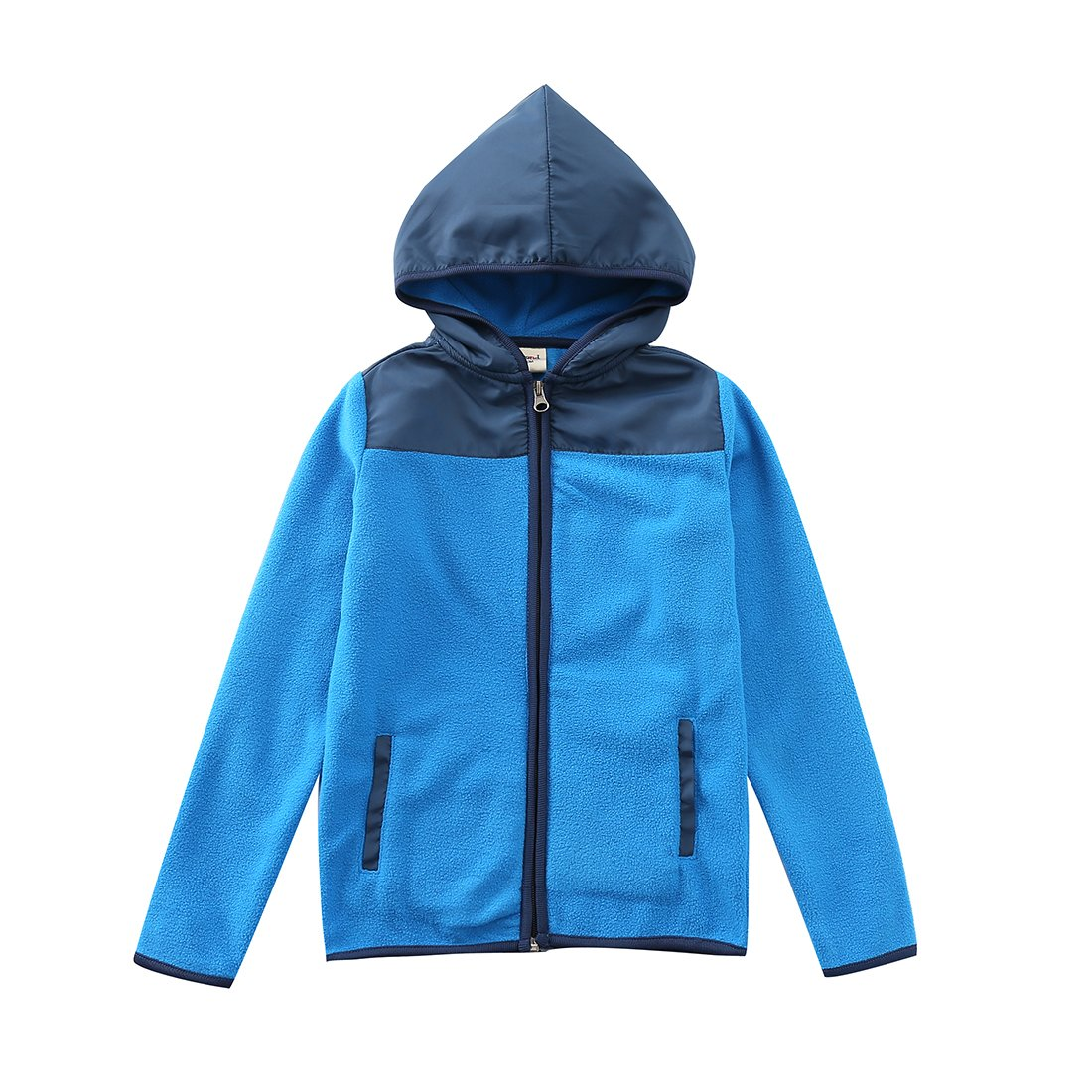 MOMOLAND Boys Girls Long Sleeve Hooded Zip Fleece Jackets with Pockets