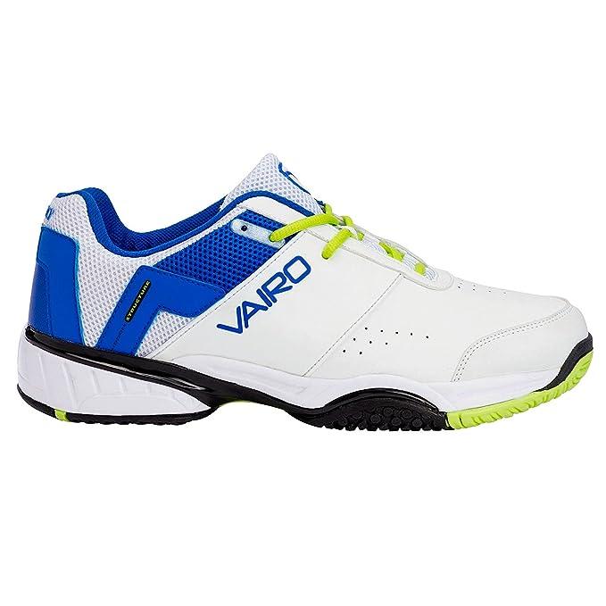Zapatillas padel Vairo Elite, Blanco, Azul, 45: Amazon.es ...