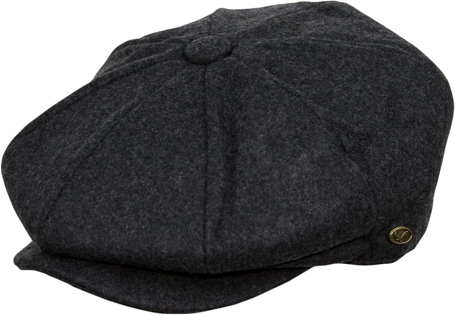 Epoch Mens Classic 8 Panel Wool Blend newsboy Snap Brim Collection Hat