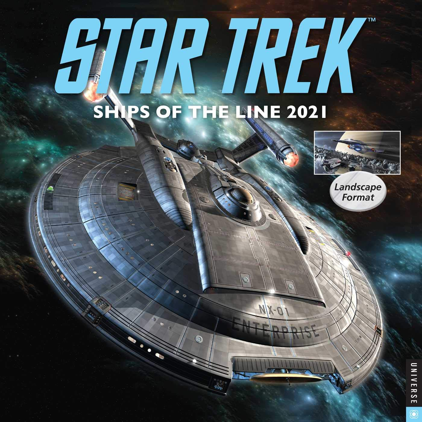 Calendario Star Trek 2021 Amazon.com: Star Trek Ships of the Line 2021 Wall Calendar