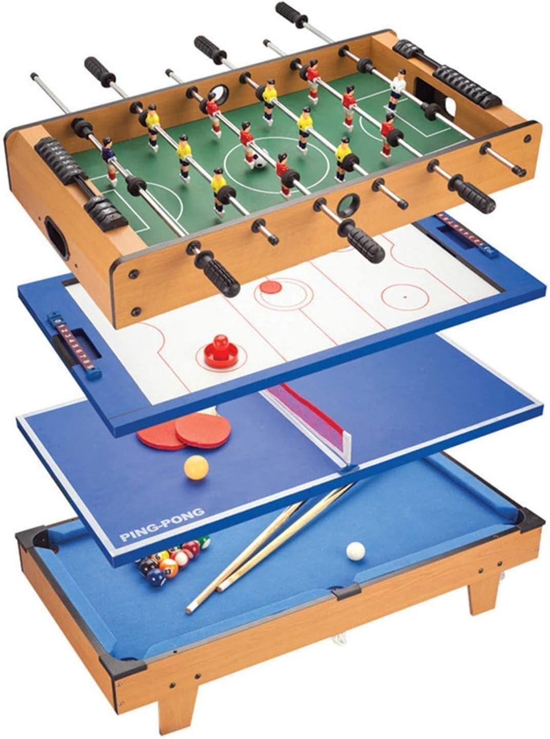 Cuatro en uno Juego de Mesa Fútbol / Hockey / tenis de mesa / billar 3+ Niños Juguetes educativos entre padres e hijos interactivo multi-función de billar mesa de la fiesta for la Casa Juguetes dongdo