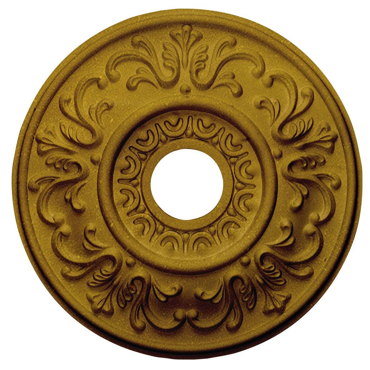 Ekena Millwork CM18VLPGS Valletta Ceiling Medallion fits Canopies up to 3 1/2'', Pharaohs Gold
