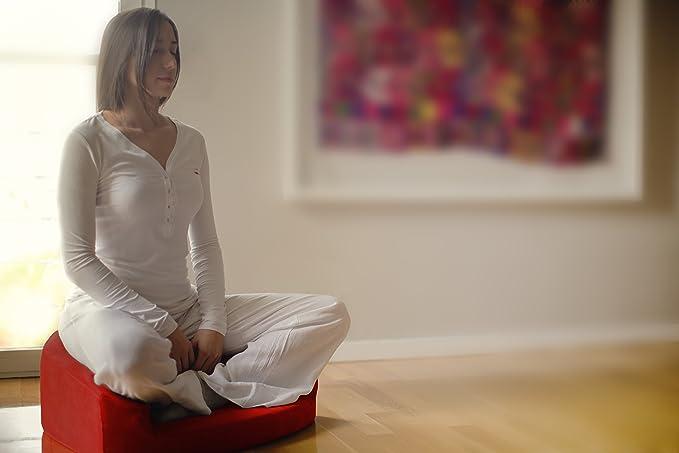 Cojín de meditación que aúna zafu y zabuton (Azul)