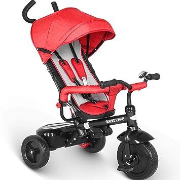 5be5879cbf43 besrey 4 en 1 Tricycle Poussette Vélo Walker pour Enfant de 1 à 6 Ans avec