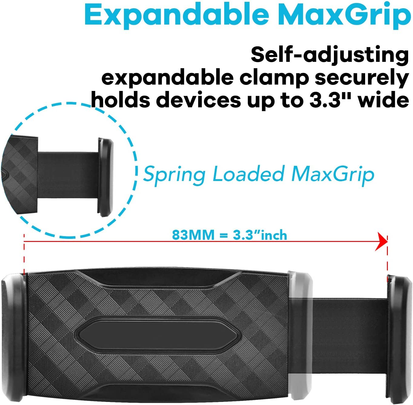with Expandable Spring-Load Grip APPS2Car Universal Strong Hold Air Vent Cell Phone Holder for Car with Super Sturdy Grips Adjustable Car Vent Phone Mount