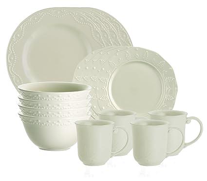 Amazon.com | Paula Deen Signature Dinnerware Whitaker 16-Piece ...