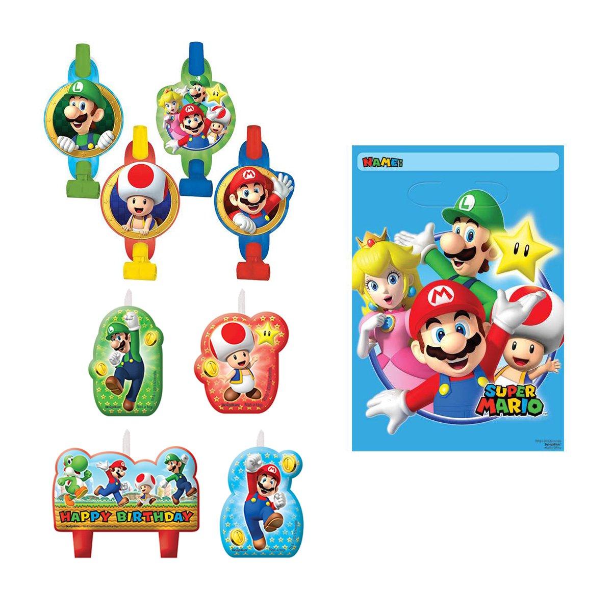 Amazon.com: Nintendo Super Mario Bros Ultimate Birthday Game 16 Pack ...