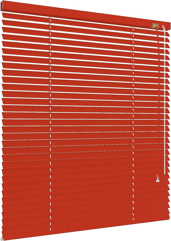 50 x 160 cm deko-raumshop Alu Jalousie Aluminium Lamellen Metall Fenster T/ür Rollo Rot L/änge 130//160 // 220 cm Jalousette Lamellenjalousie Breite 50 bis 240 cm
