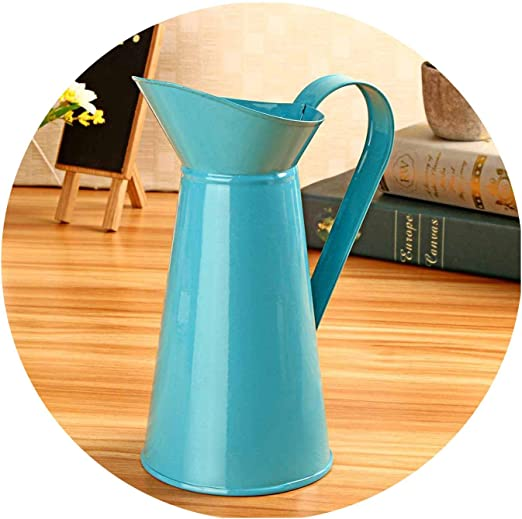 8 Inch Vintage Shabby Colorful Flower Vase Pitcher Jug Holder Wedding Home Decor