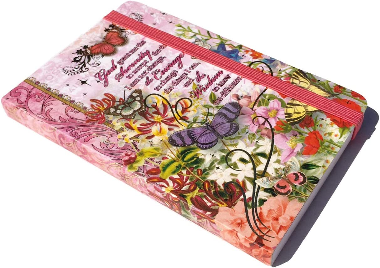 70463 Serenity Prayer Punch Studio Bungee Pocket Journal