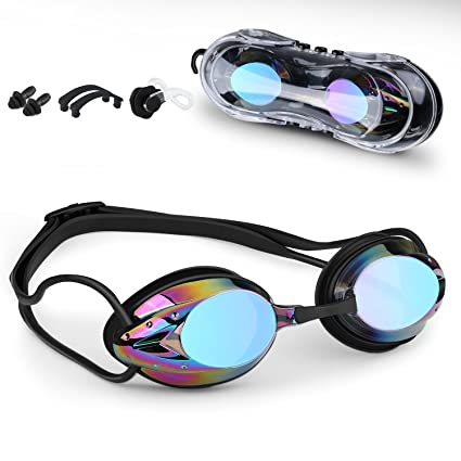 04eea73326b Waterproof Swim Goggles with Anti-Fog UV Protection Lens for Outdoor and  Indoor Swimming