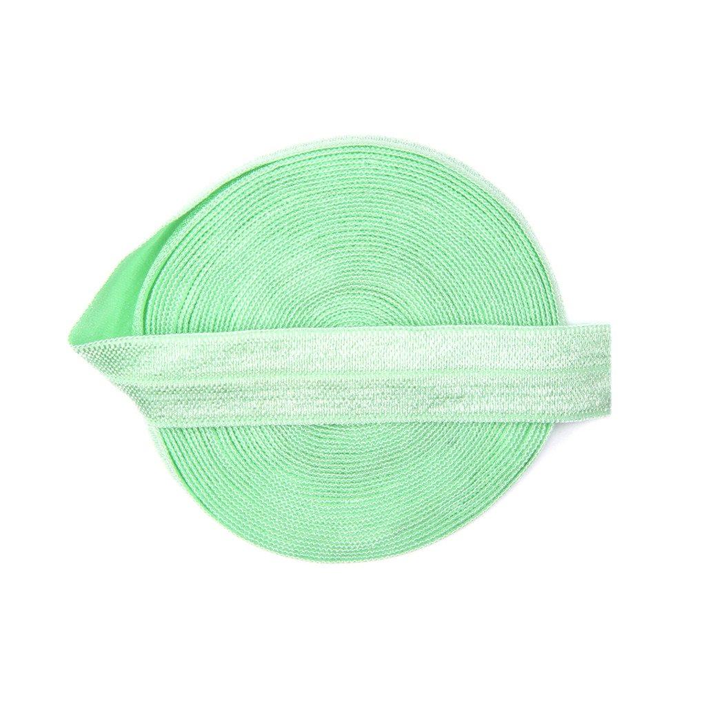 DIY PARK 5 Yard 5/8 Soild Color Fold Over Elastic Spandex Satin Band Lace Baby Headband Sewing Trim(Hunter) 5/8