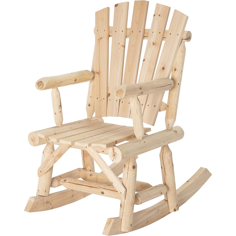 Amazon Cedar Fir Wooden Outdoor Rocking Chair Adirondack