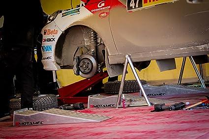 Rampa di Sollevamento in Alluminio per Auto MOTAMEC Tinta Unita Rampa per Ruote in Lega WRC