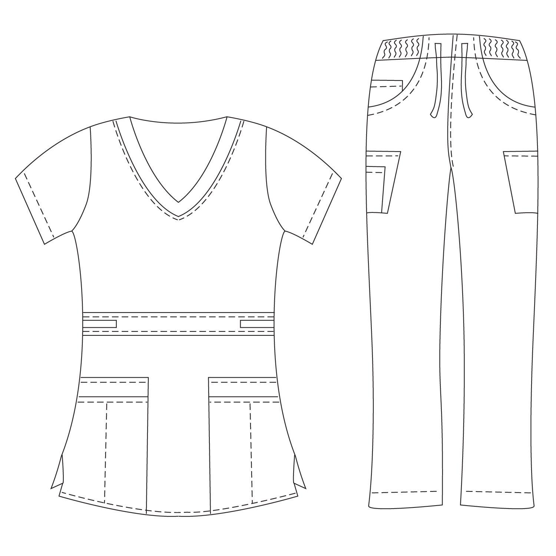Dagacci Medical Uniform Womens Stretch Image 2