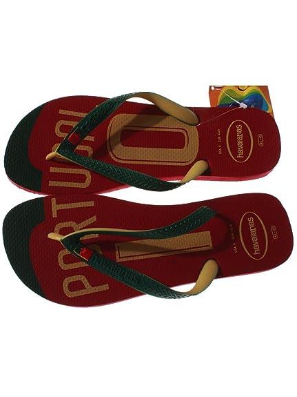 Havaianas Portugal Zehensandalen - Zapatillas de running para mujer Rojo rojo, color Rojo, talla 43/44: Amazon.es: Zapatos y complementos