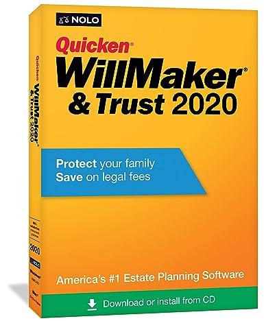 Quicken 2020 Review.Amazon Com Nolo Quicken Willmaker Trust 2020 Software