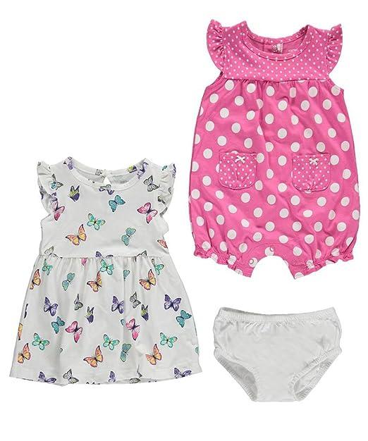 Carters Baby Girls 2 piezas Vestido y juego de Pelele, Jersey y lunares de diseño de mariposas: Amazon.es: Ropa y accesorios