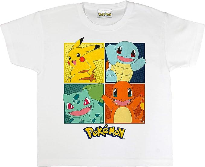 Pokemon Cuadrícula Camiseta de los Muchachos | mercancía Oficial | Edades 3-13, Regalos de los Muchachos de Pokemon, Ropa de los niños, Pikachu, niños y Regalo de cumpleaños Idea: Amazon.es: Ropa y accesorios