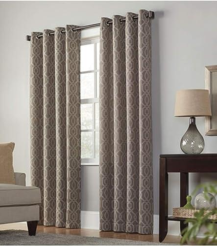 allen roth Keldgate Cobblestone Polyester Light Filtering Single Curtain Panel 84 L x 50 W