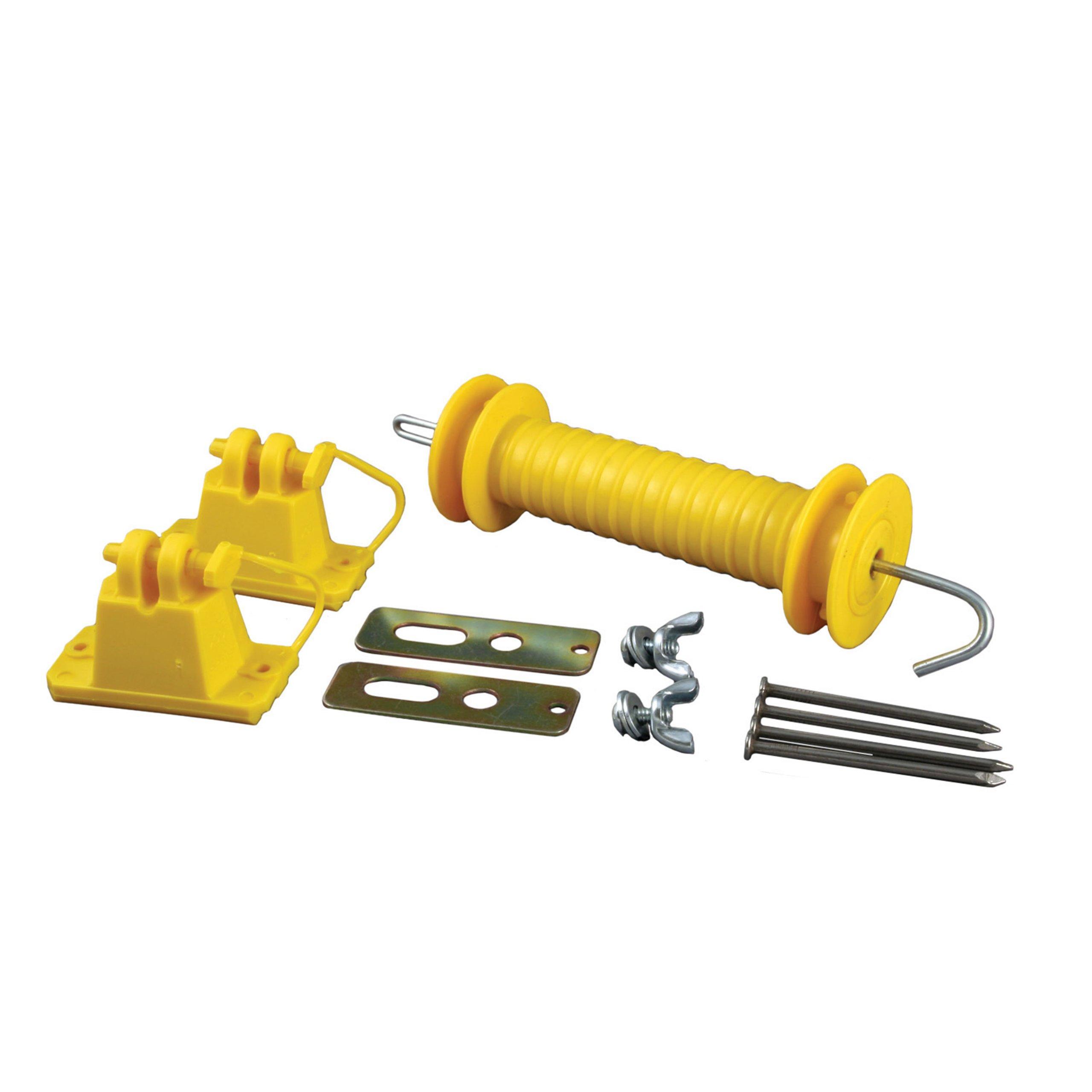 Zareba YWPGK10 Wood Post Gate Kit, Yellow