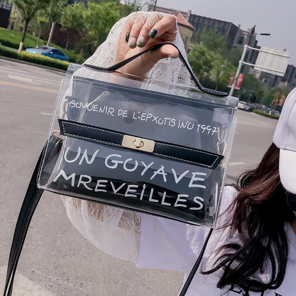 Bolso transparente de cuerpo cruzado Bolso impreso de jalea Bolso de hombro para compras en la playa