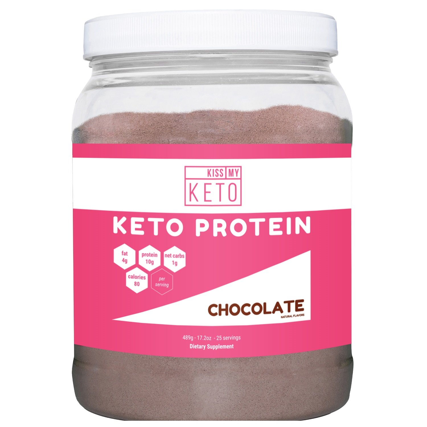 Kiss My Keto Protein Powder - Keto Collagen Supplement, Grassfed Collagen Peptides & MCT Oil Powder, Low Carb Keto Shake or Keto Coffee Creamer for Ketogenic Diets, 25 Servings (Chocolate) by Kiss My Keto