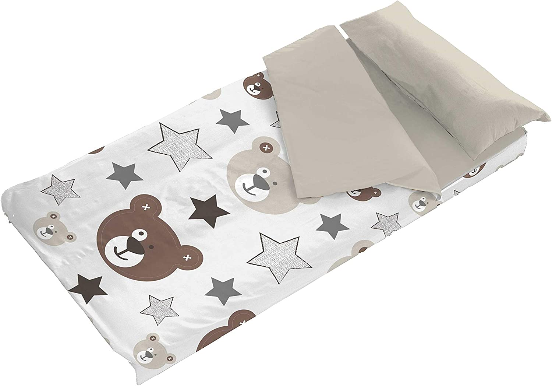 90 cm Saco N/órdico Infantil Osito Teddy para Cama de 90 o 105 cm Interior de Coralina Denisa Home