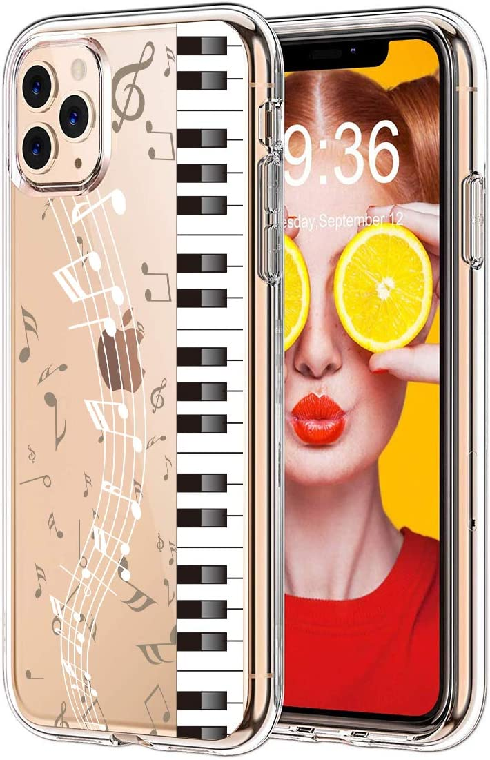 GoldSwift Cool Musical Clear Flexible Case for iPhone 11 Pro Max 6.5-Inch 2019 (Piano)