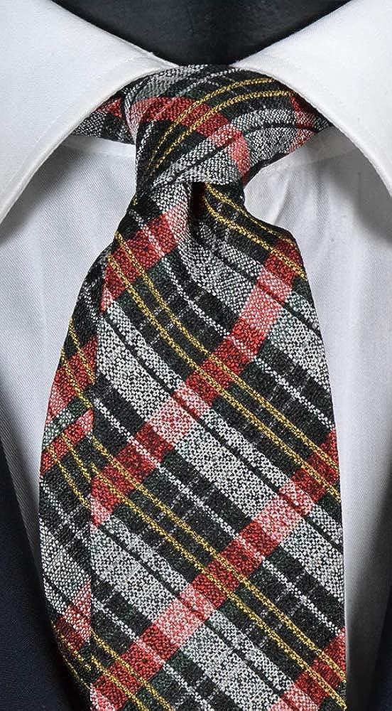 Graffeo - Corbata de hombre a cuadros multicolor Exclusive Texture ...