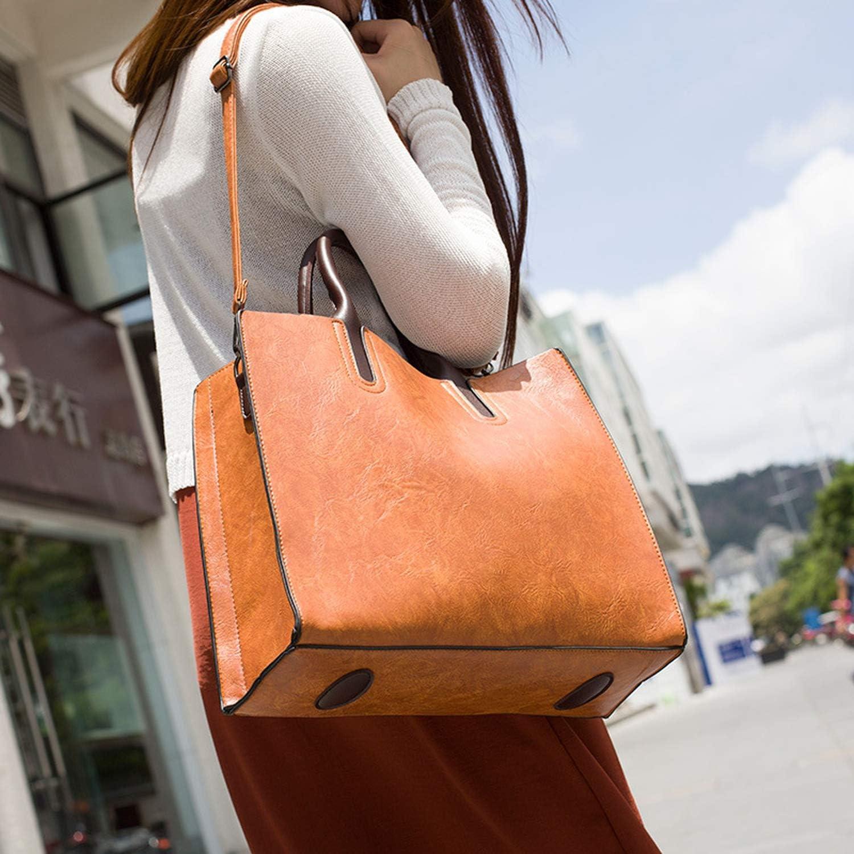 BENatural-UK Schlichte, modische quadratische Handtasche aus Lleder, lässige Arbeitstasche für Damen, große Messenger Bag Grau