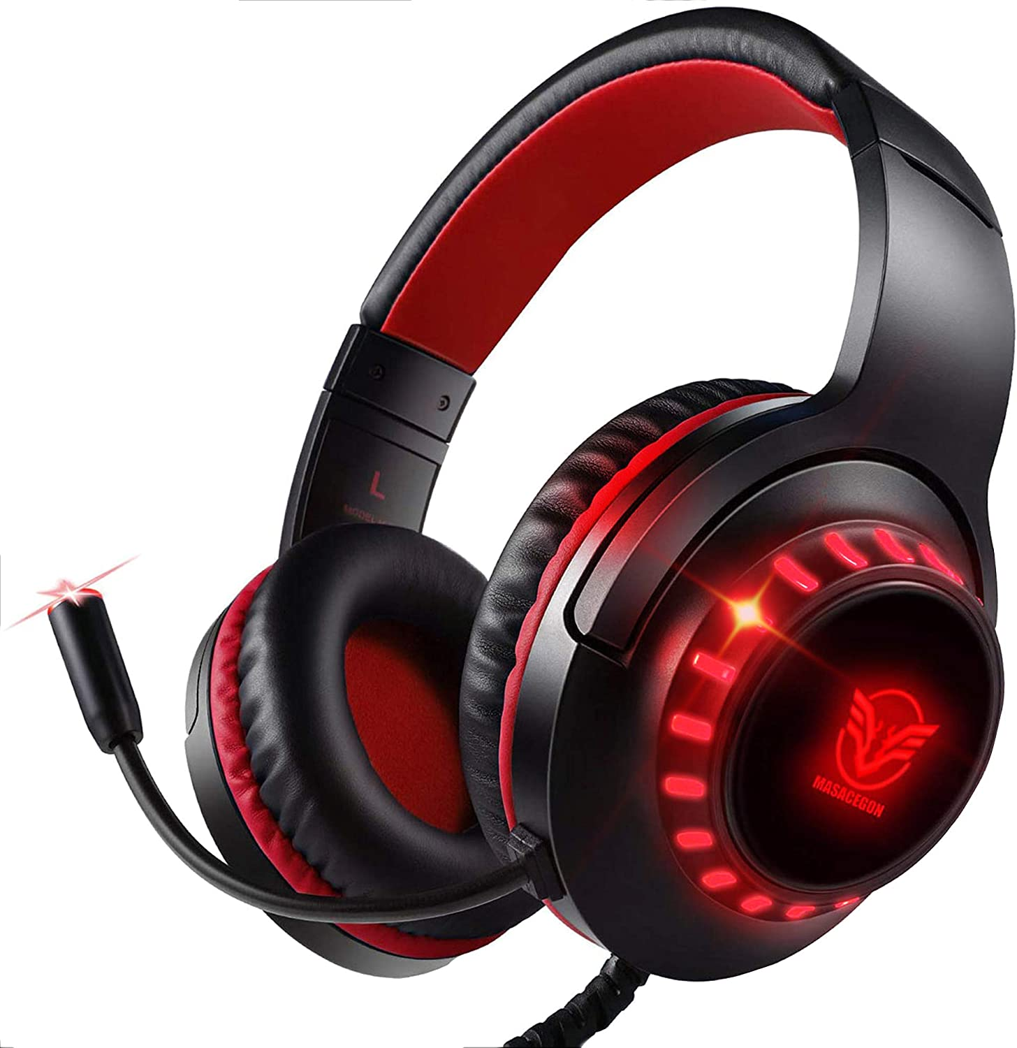 Pacrate Gaming Headset for PS4 Xbox One PC with Noise Cancelling