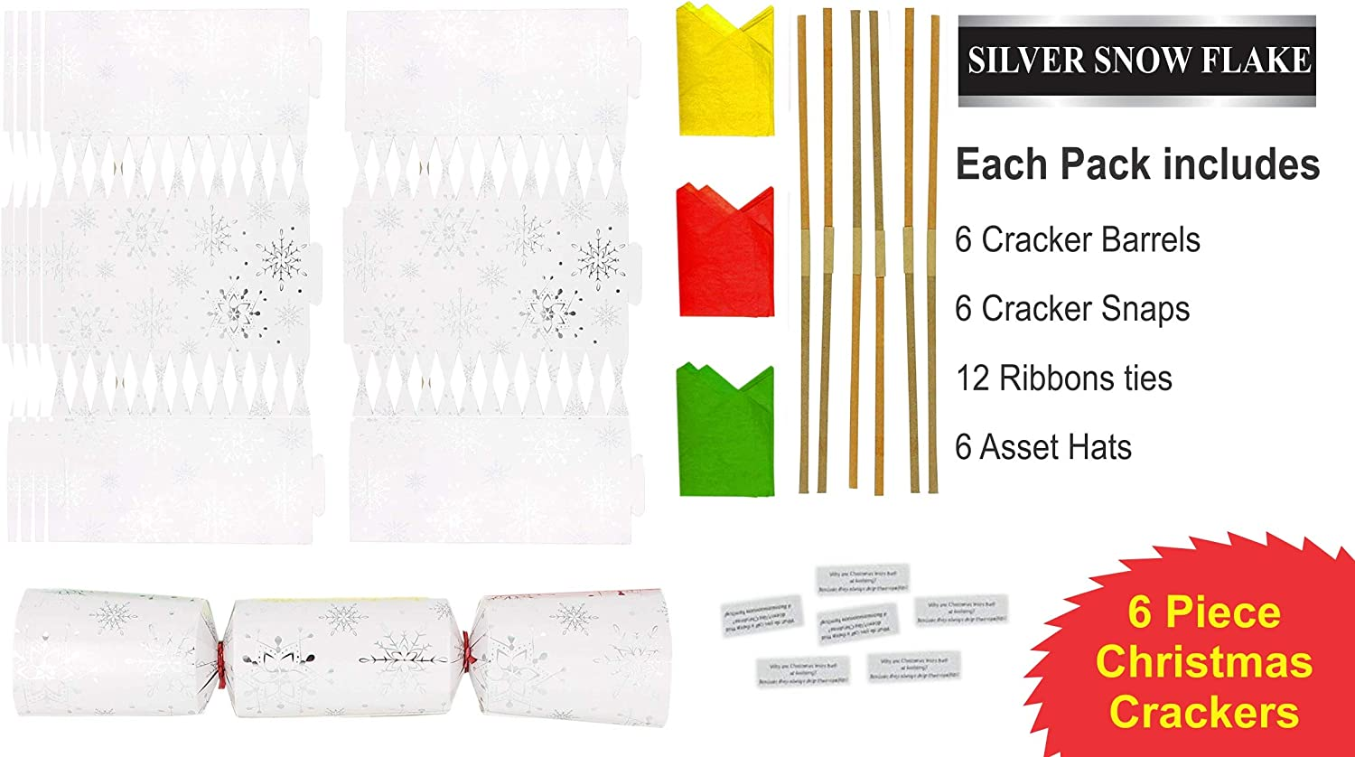 RS Make Your Own Christmas Crackers Christmas Decorations Penguin Snowman Reindeer Santa Colour Your Own Gold Silver DIY Large Prime Personalised For Children Women Pack of 6 Santa /& Reindeerr