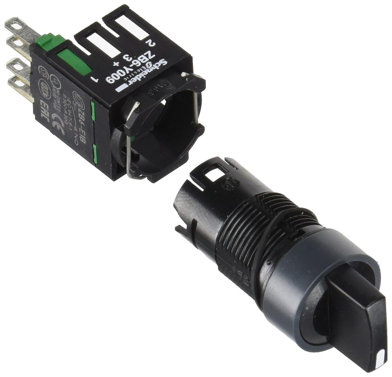 Schneider Electric XB6AD221B Selector Switch 16mm, Black