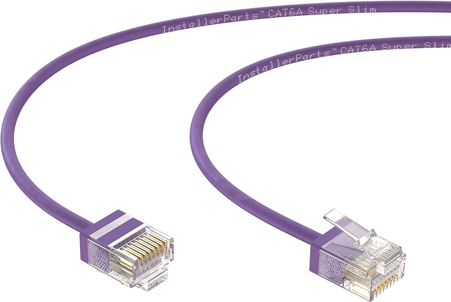 Professional Series InstallerParts Ethernet Cable CAT6A Super Slim Cable UTP 1.5 FT - White 550MHZ 10Gigabit//Sec Network//High Speed Internet Cable 10 Pack 32AWG