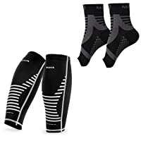 Mava Sports Ankle Brace Support Sleeve with Calf Sleeves Compression new Bundle...