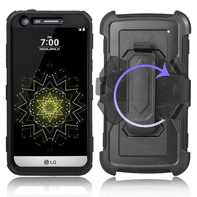 Amazon.com: Funda para LG G5, JWest Combo rígido de cuerpo ...