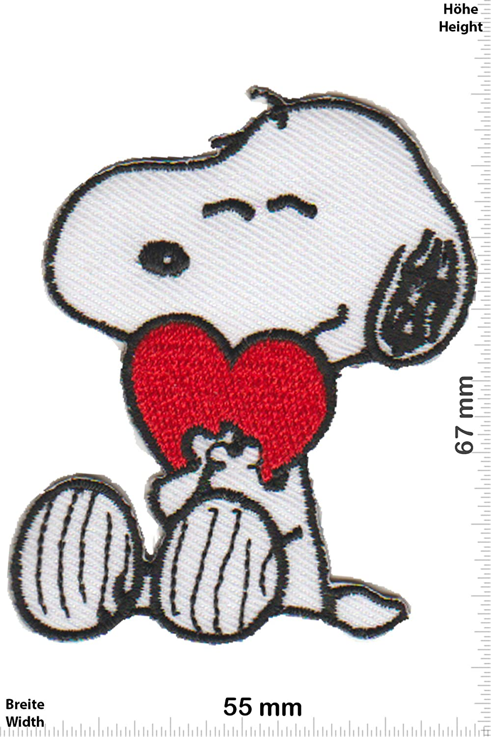 Parches - Snoopy - Die Peanuts - Hearts - Cartoon Snoppy - Iron on ...