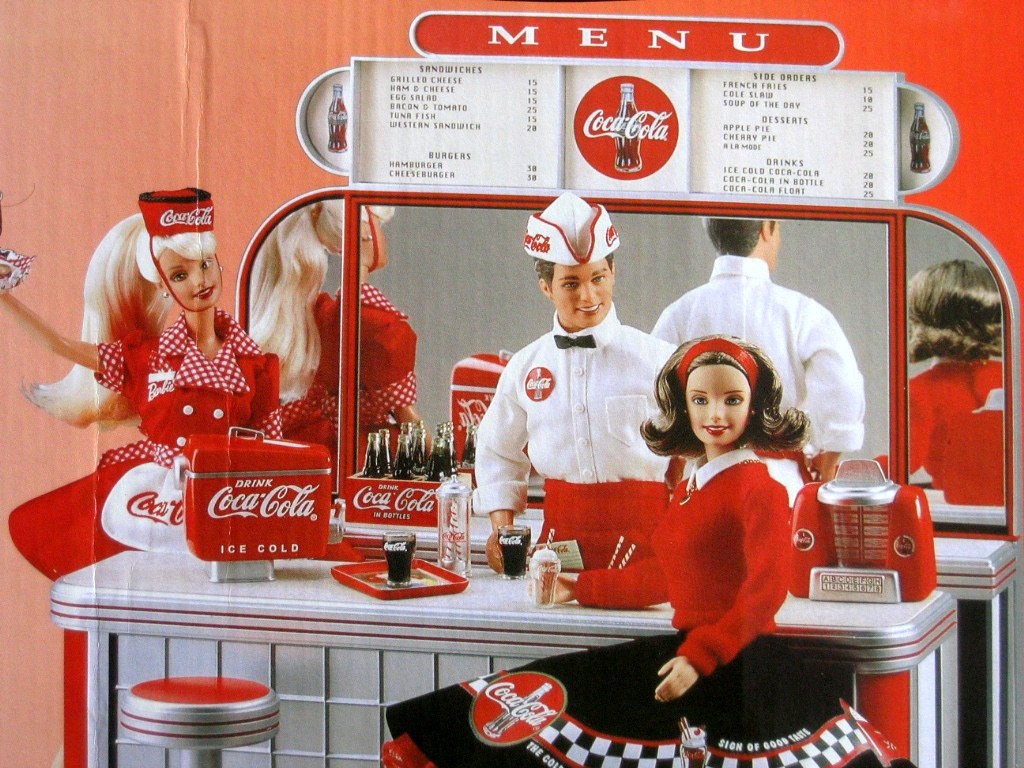 Barbie COCA COLA SODA FOUNTAIN Playset w Shipper Box - Limited Edition Barbie Collectibles (2000)