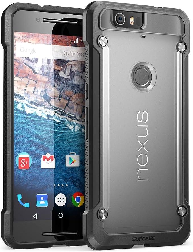 SUPCASE - Carcasa híbrida para Nexus 6P (Ranura para 2015), diseño ...
