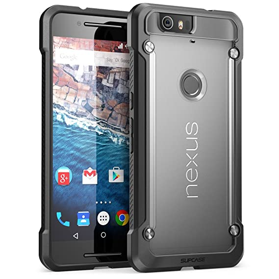 reputable site 6452e bd360 Nexus 6P Case, SUPCASE Google Nexus 6P Case Cover (2015 Release) Unicorn  Beetle Series PremiumSlim Hybrid Protective Case/Bumper (Frost/Black)