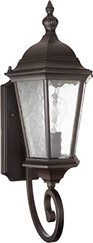 Acclaim 5501BC Telfair Collection 1-Light Wall Mount Outdoor Light Fixture, Black Coral