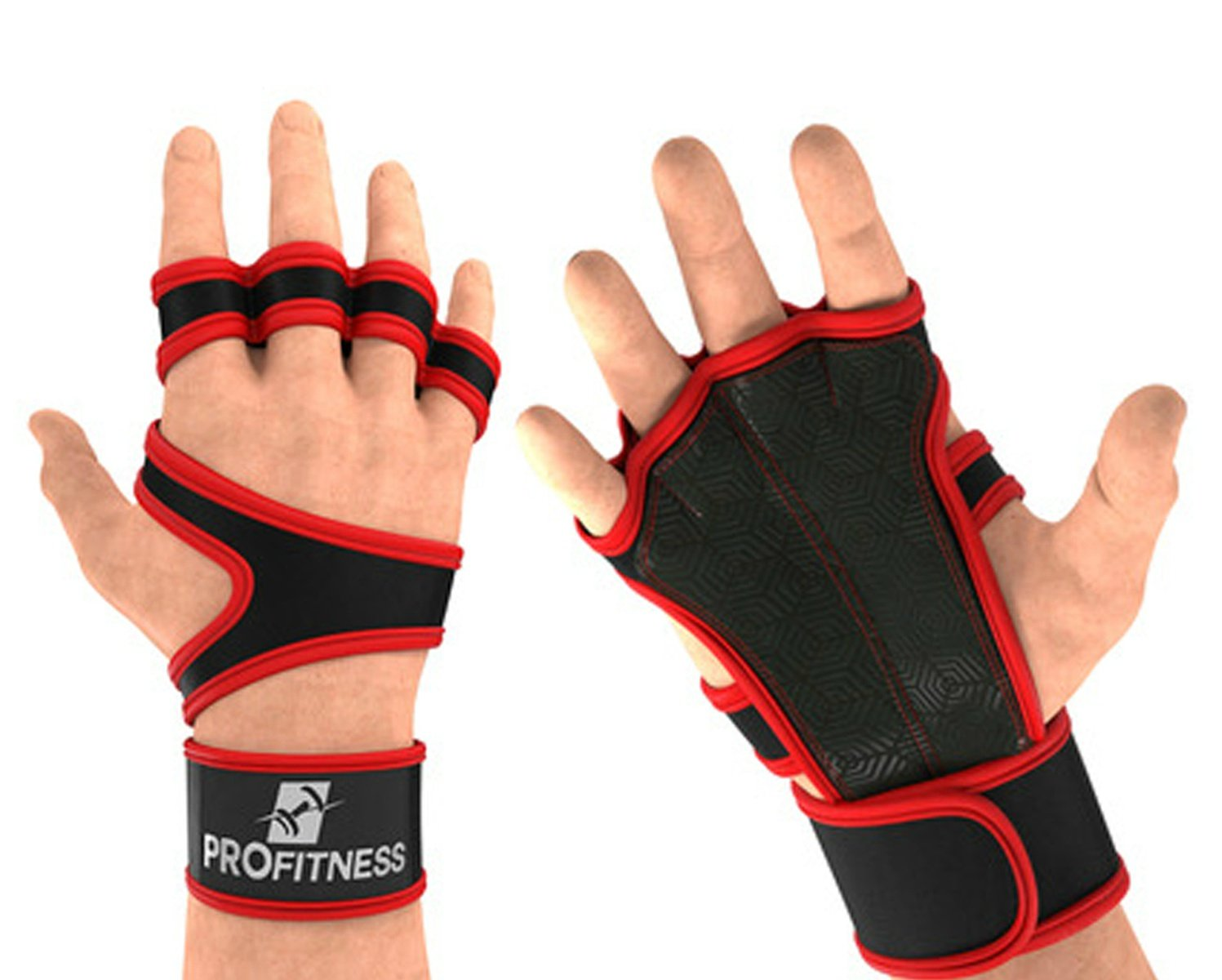 ProFitness Cross Training Gloves with Wrist Support by Non-Slip Palm Silicone Padding to avoid Calluses | For Weight lifting, WOD, Powerlifting & Gym Workouts | Ideal for Both Men & Women